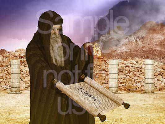 Moses, blood, consecration, law, scroll, G-D