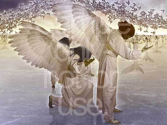 Angels, praise and worship, Heaven, Revelation, prophecy